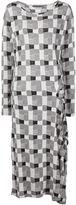 Yohji Yamamoto draped detail longsleeved dress