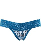 Charlotte Russe Floral Lace-Trim Thong Panties