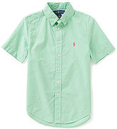 Ralph Lauren Little Boys 2T-7 Gingham-Checked Short-Sleeve Poplin Shirt