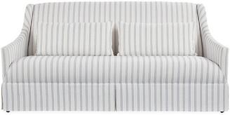 One Kings Lane Dawes Skirted Sofa - Stripe Crypton