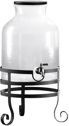 Jay Import Toscana Glass Beverage Dispenser with Metal Stand 2.7 Gallon Capacity