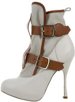 Vivienne Westwood Leather Round-Toe Ankle Boots