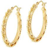 Margherita Bronze 1 Round Hoop Earrings by Bronzo Italia