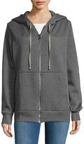 Necessary Objects Zip-Up Cotton-Blend Hoodie