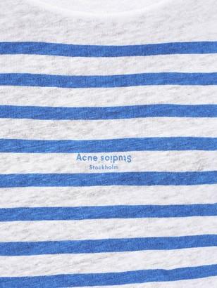 Acne Studios Linen Blue Stripe T-shirt