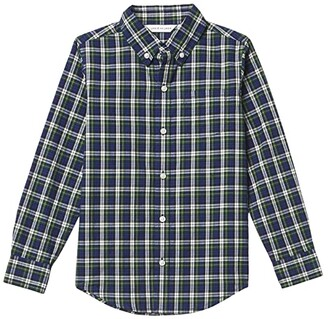Janie and Jack Plaid Button-Up Shirt (Toddler/Little Kids/Big Kids) (Multi) Boy's Clothing