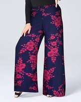 Fashion World Print Super Wide Flared Leg Trousers Sht