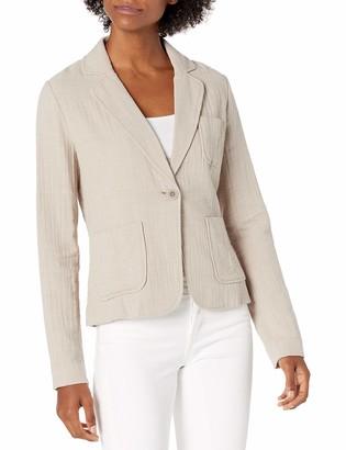 b new york Women's Long Sleeve One Button Blazer