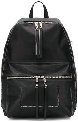 Rick Owens textured zipped backpack