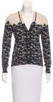 Tory Burch Floral Printed Button-Up Cardigan