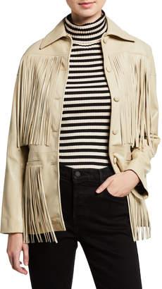 Dan Cassab Dixie Lamb Leather Fringe Jacket