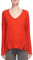 Whistles Notched Hem Knit Top