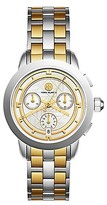 Tory Burch Tory Watch, Two-Tone/Ivory Chronograph, 37mm