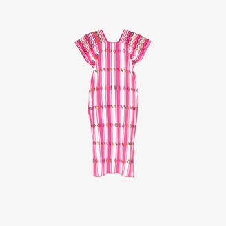 Pippa Embroidered Striped Kaftan Dress