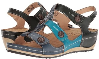 Spring Step L'Artiste by Melissa (Navy Multi) Women's Shoes