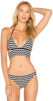 Sauvage Banded Halter Bra in Black & White. - size L (also in M,S,XL)