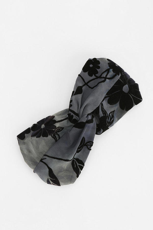 Urban Outfitters Burnout Velvet Headwrap