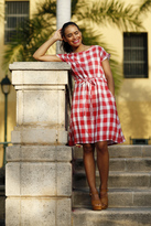 Shabby Apple Julio Tie Waist Dress Red