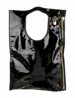 Tom Ford Patent Leather Zipper Bag Black