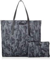 Jimmy Choo NOAH Grey Mix Camouflage Sport Nylon Tote Bag