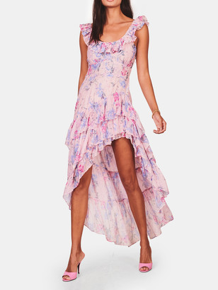 LoveShackFancy Winslow Ruffled Maxi Dress