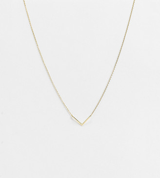 Orelia necklace with clean V in gold plate