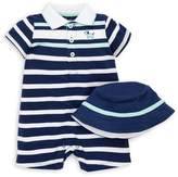 Little Me Baby Boy's Striped Romper & Bucket Hat