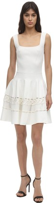 Alexander McQueen Embroidered Knit Mini Dress
