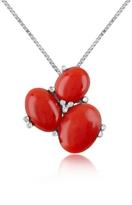 Del Gatto Three-Stone Diamond 18K Gold Pendant Necklace