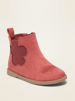 Old Navy Faux-Suede Flower-Cut-Out Chelsea Boots for Toddler Girls