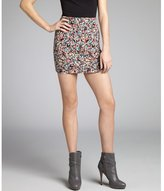 BCBGeneration hot pink and black printed knit mini skirt
