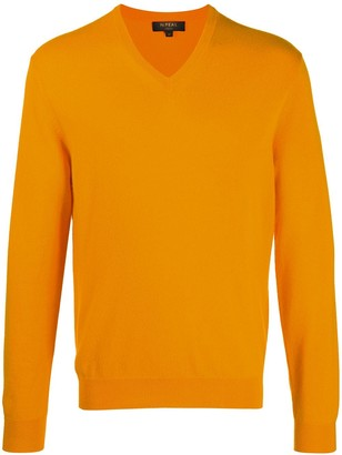 N.Peal The Burlington V-Neck 1Ply jumper