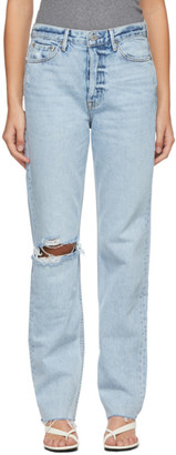 GRLFRND Blue Washed Mica Jeans