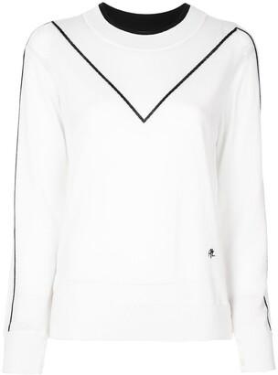 Adam Lippes Contrast Stripe Sweatshirt