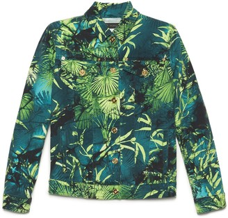 Versace Jungle Print Denim Jacket