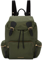 Burberry Green Nylon Backpack