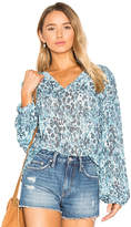 House Of Harlow x REVOLVE Seymore Blouse in Blue. - size L (also in S,XS)