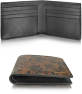 Paul Smith Men's Brown Leather Logan Floral Print Billfold Wallet