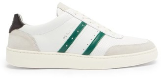 Paul Smith Raffi Stripe-applique Leather Trainers - White