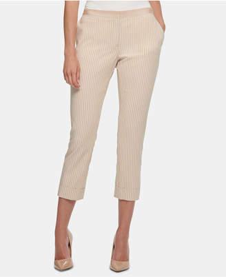 Tommy Hilfiger Striped Cuffed Pants