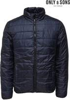 Mens Only & Sons Navy Padded Jacket - Blue