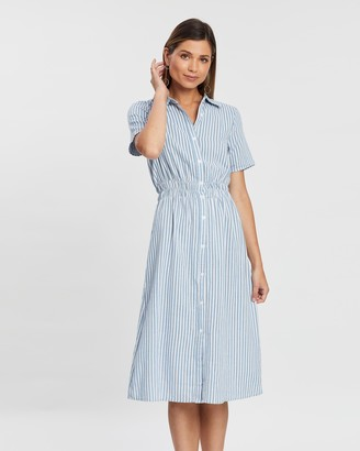 Atmos & Here Alice Striped Midi Dress