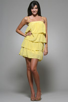 Kim Ruffle Dress in Yellow