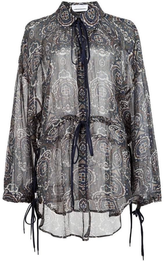 Chloé tile print blouse
