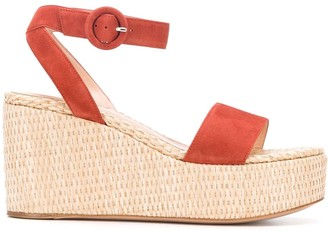 Gianvito Rossi Woven Wedge Sandals