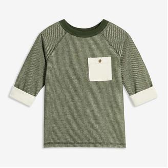 Joe Fresh Toddler Boys' Pocket Waffle Knit Tee, Army Green (Size 5)