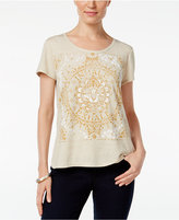 Style&Co. Style & Co. Petite Medallion Graphic T-Shirt, Only at Macy's