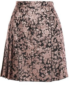 Dolce & Gabbana Pleated Brocade Mini Skirt