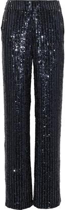 Alice + Olivia Racquel Embellished Satin Wide-leg Pants