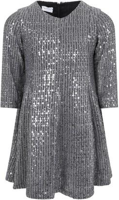 Le Gemelline by Feleppa Silver Dress For Girl
